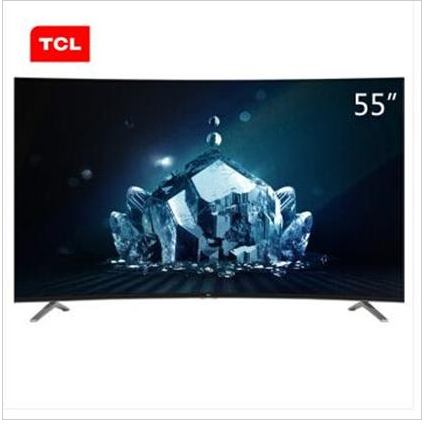 tcl电视l55c1-scud 55英寸曲面4k_电视机_电器设备