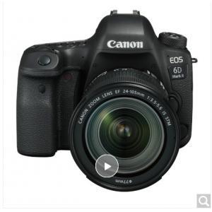 佳能 EOS 6D Mark II 单反套机(EF 24-105mm f/3.5-5.6 IS STM 镜头)(含128G存储卡、相机包、UV镜、备用电池、清洁套装、读卡器)