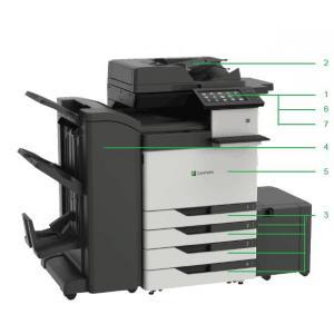 利盟 cx923de A3幅面彩色高速复印机(外配双纸盒组件...